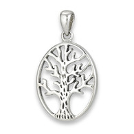 Stainless Steel Tree of Life Pendant includes Stainless Steel Box Chain