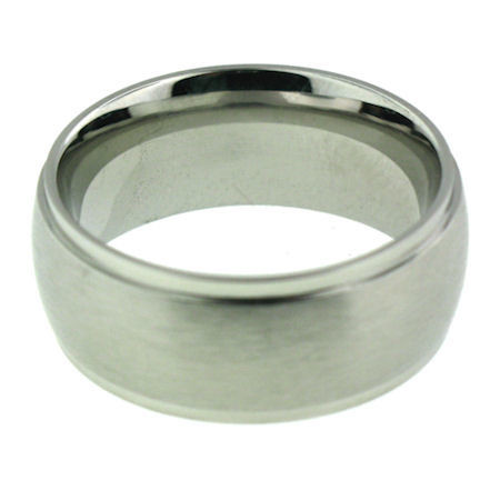 Stainless Steel Comfort Fit Band Ring Brushed Finish Available Sizes: 5 - 16