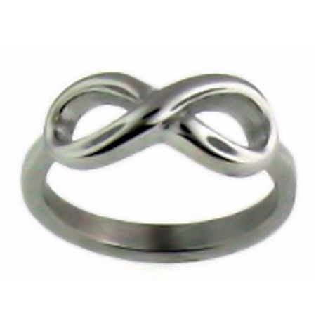 Stainless Steel Infinity Ring   Ring Width: Approx. 7mm