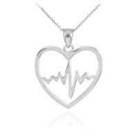 Stainless Steel Heartbeat Pendant Includes stainless steel Box chain Choice of box chain length 16, 18 or 20 Inches