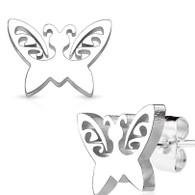 ButterflyStainless Steel Stud Earrings 0.08mm