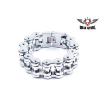 Heavy Duty Stainless Steel Motorcycle  Bracelet Stainless Steel Bracelet Approximate 1 inch wide m 8 3/4 , 9 3/4