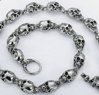 Heavy Stainless Steel Skull Necklace