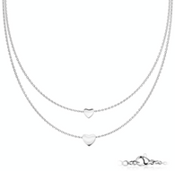 Stainless steel Double layer Necklace