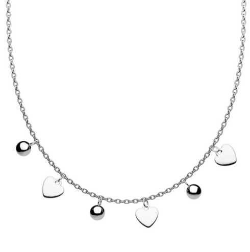 Stainless steel heart design necklace