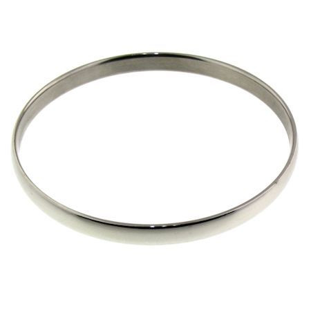 """7.0"""" Stainless Steel Engravable Bangle    Highly polished stainless steel bangle.    Can be engraved or stamped!   Approx. 7.0"""" long    Approx. Width: 6mm    Approx. Weight: 16.7 grams"""