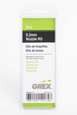 Grex Original OEM 0.2mgm Nozzle Kit - TK-2 for Grex TG, TS, XGi and XSi (660292121847)