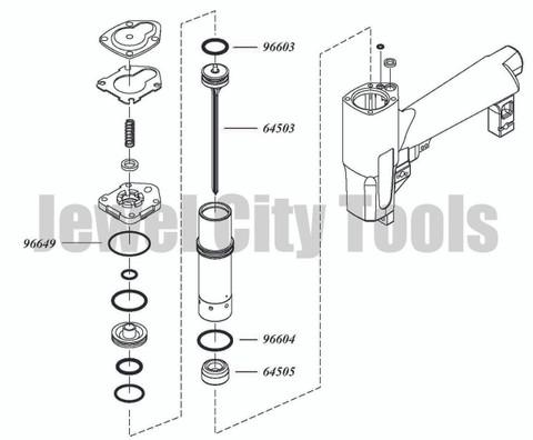 Grex P645 P645L P650 P650L Pinner Nailer OEM Original Driver & Maintenance Kit--Part # P645KB2 (660292130016)