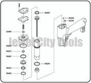 Grex P650LX, P650LXE H850LX Pinner Nailer OEM Original O-Ring Kit--Part # P650LXKD (660292130245)