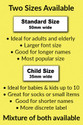 Choose 50mm or 35mm length. Smaller labels are still clear to read, as the print is BOLD. Smaller labels are idea for babies and toddler clothing.