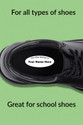 Shoe labels and stickers for all types of shoes - perfect for school shoes.