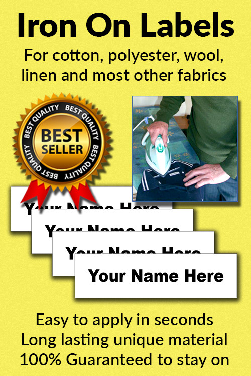 Name It Labels iron on clothing labels come pre-cut to 50mm x 13mm and ready to use. We supply our labels in a zip lock bag along with full instructions on how to apply them.