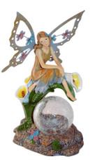 "11"" Solar Fairy Crackle Glass Globe Light,Color Change LED light"