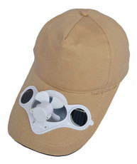 Fan hat, Beige, solar powered, great for games