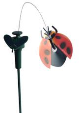 Solar or Battery Powered Fluttering Red Ladybug