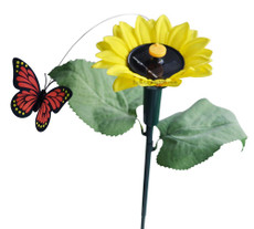 Solar Fluttering Butterfly with Sunflower