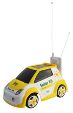 Solar Radio Remote Control Yellow Cabin Vehicle, No BatteriesEver Needed !