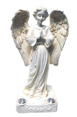 Praying Angel Solar Garden Lights w./ solar powered 2 Yellow LEDs