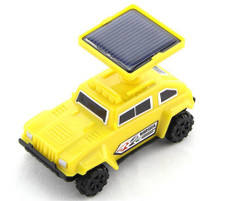 Solar Yellow Hummer Car, Assembly Toy Kit