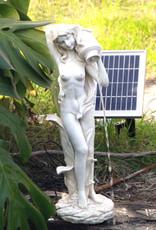 Standing Girl Pond Fountain With 2 Watt Solar Pump Kit