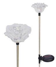 Solar Wholesale 1047-2 two Lovely Brilliant Solar Roses Garden Stake LED Lights