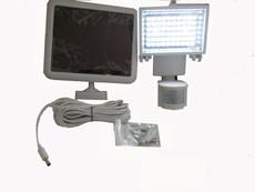 Solar Wholesale 8014 60 LED Garage Gutter Sensor Security Solar Light, White Body