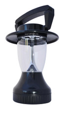 Black Camping Lantern, 12 White LEDs, Solar or Dynamo Powered
