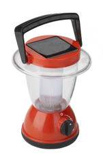 Red Solar Camping Lantern for Children, 6 White LEDs