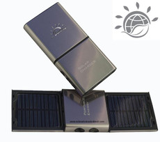 Solar Phone Charger, Aluminum Finish, solar powered