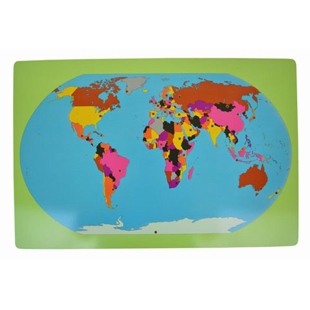 World Map with Flags Montessori materials  Thinkamajigs
