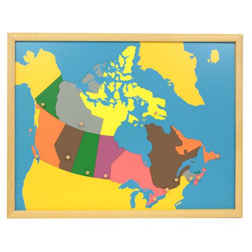 Canada Puzzle Map Montessori materials  Thinkamajigs