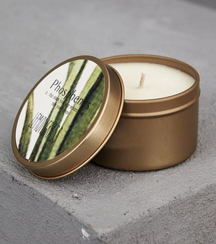 HAND POURED SOY CANDLE IN TRAVEL TIN - LEMONGRASS