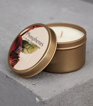 HAND POURED SOY CANDLE IN TRAVEL TIN - POMEGRANATE