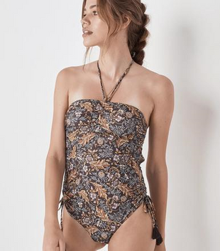 OASIS ROUCHED ONE PIECE - NIGHTSHADE