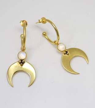 BABY HOOPS ECLIPSE EARRINGS - GOLD PLATED