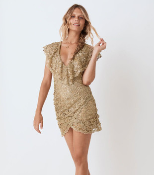 NINA SHIFT DRESS - BRONZE