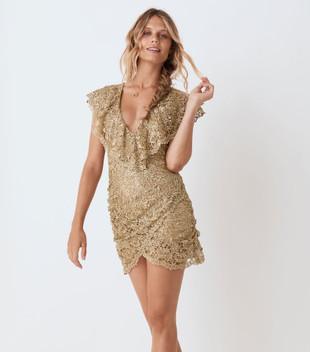 NINA SHIFT DRESS - BRONZE