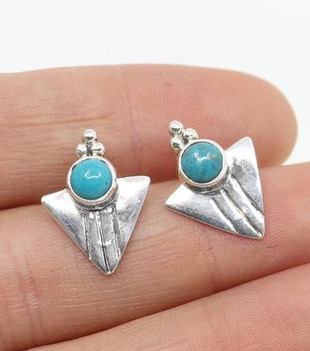 AQUILA TURQUOISE EARRINGS - SILVER