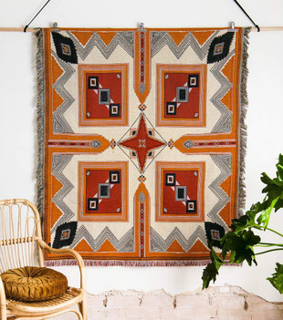 'COME TOGETHER' WOVEN PICNIC RUG AND THROW - REGULAR