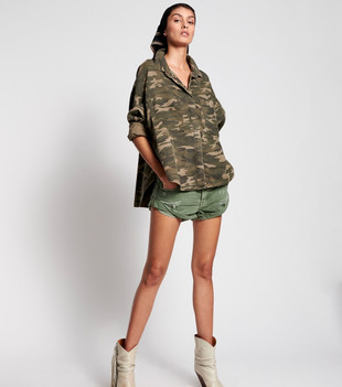 CAMO LONG SLEEVE DARIA SHIRT