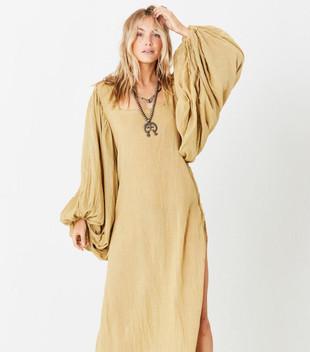 GOSSAMER MAXI DRESS - OLIVE