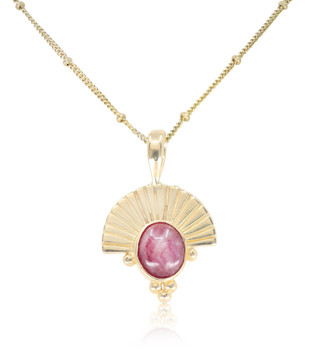 EMPRESS GOLD RUBY NECKLACE