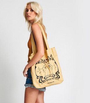 MIND FREQUENCIES MOBLACK TOTE BAG - OCHRE
