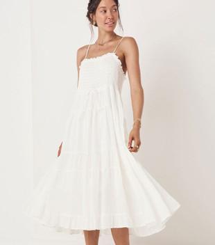 GARDENIA SUN DRESS - WHITE