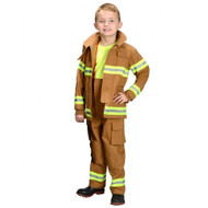 Tan Firefighter Costume - Youth 8-10