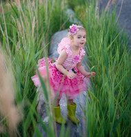 Deluxe Pink Fairy Blooms Costume
