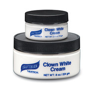 Clown White Cream Face Paint 2.5 oz.