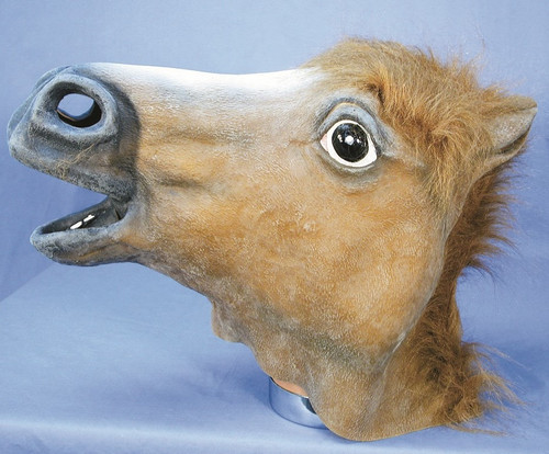 Latex Brown Horse Mask