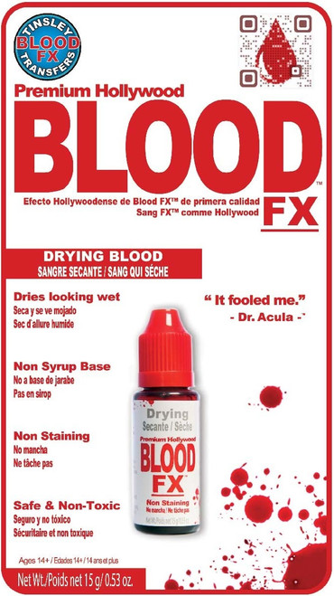 Wet Look Drying Blood