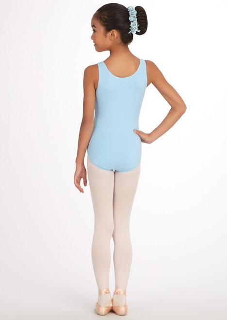 Capezio Classics Cotton Tank Bodysuit, shown in Light Blue.